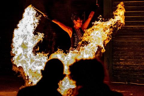 Harmonische-Show-Violin-Feuer-Licht-11
